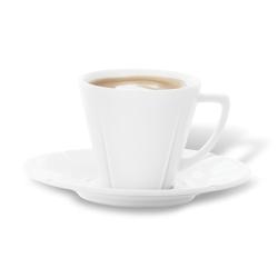 GC espresso krūzīte ar apakštasI 9,0cl cl, balts porcelāns