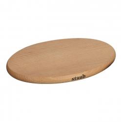 Staub kuumaalus ovaalne puidust, magnetiga
