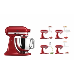 KitchenAid mikser Artisan 4,83 l, punane+ 5KSMFVSFGA+5KSMVSA