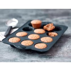 Blomsterbergs muffinsivuoka silikooni, 12 pesää, harmaa