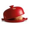 Emile Henry  maizes cepšanas forma, sarkana