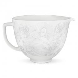 KitchenAid miksera keramikas trauks Whispering ziedu, 4,7 l