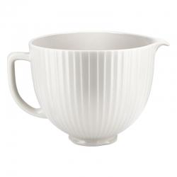 KitchenAid mikseri keraamiline kauss 4,7 l, valge, tekstuur