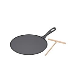 Le Creuset crépe pannu malm 27 cm, musta