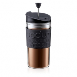 Bodum reisikruus Travel Press  0,35 l, plastik/must