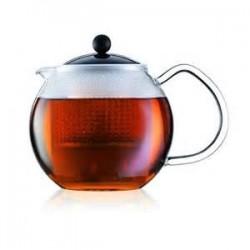 Bodum ASSAM tējas spiedkanna, stikla rokturis, plastmasas sietiņš
