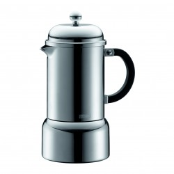Chambord Espresso maker, stove top, 6 cup, 0.35 l, stainless steel