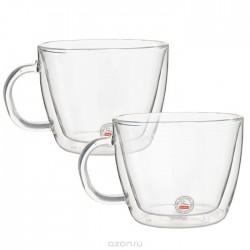 Bodum madal Latte kruus 0.45l, topeltseinaga klaas, 2tk