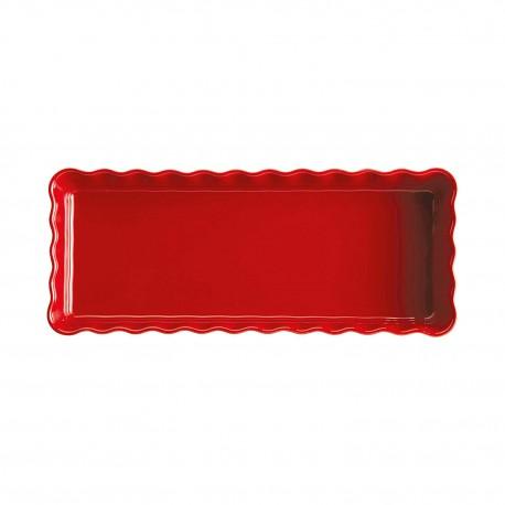 Pirukavorm pikk kandiline15x36cm/1,6l, granaatõuna punane