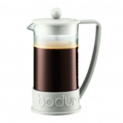 Bodum Brazil kafijas spiedkanna1,0 l, balta