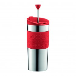 Bodum dubultsienu termokrūze ar kafijas presi metāla 035 l