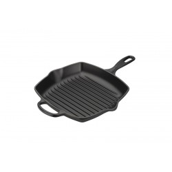 Ruutjas grillpann 20cm, matt must