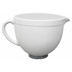 Miksera trauks keramika 4,7L (ar reljefu) balts