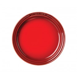 Dessert plate Classic 18 cm, red, creme, blue, gray