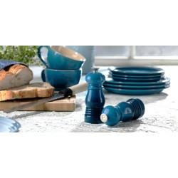 Le Creuset šķīvis 22 cm, keramika,  sarkans, zils, pelēks, smilškrāsas