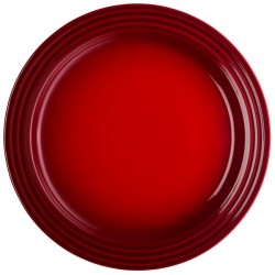 Plate Signature 27 cm, red, creme, blue, gray