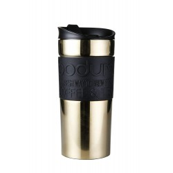 Travel Mug, Double Wall, Stainless Steel, 0.35 Gold
