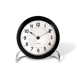 Arne Jacobsen Station настольные часы + будильник, черный