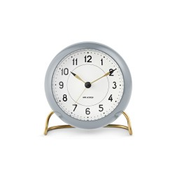 Arne Jacobsen Station lauakell+alarm, hall/valge