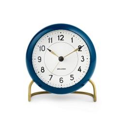 Arne Jacobsen Station настольные часы + будильник, сине-зеленый / белый