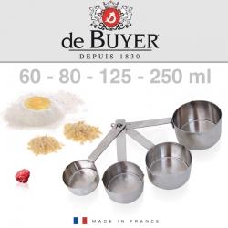 De Buyer mērkarotes 4gab (60-80-125-250 ml)