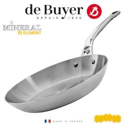 De Buyer tērauda cepešpannas panna Mineral B Element PRO, nerūsējoša tērauda rokturis