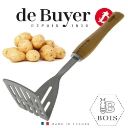 B Bois kartupeļu stampa, koka rokturis