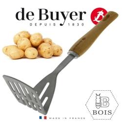 De Buyer B Bois kartupeļu stampa, koka rokturis