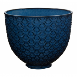 Textured Ceramic Bowl - Blue Mermaid Lace 4,7L
