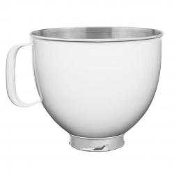 Чаша с ручкой (Artisan) 4,8л металлическа белая